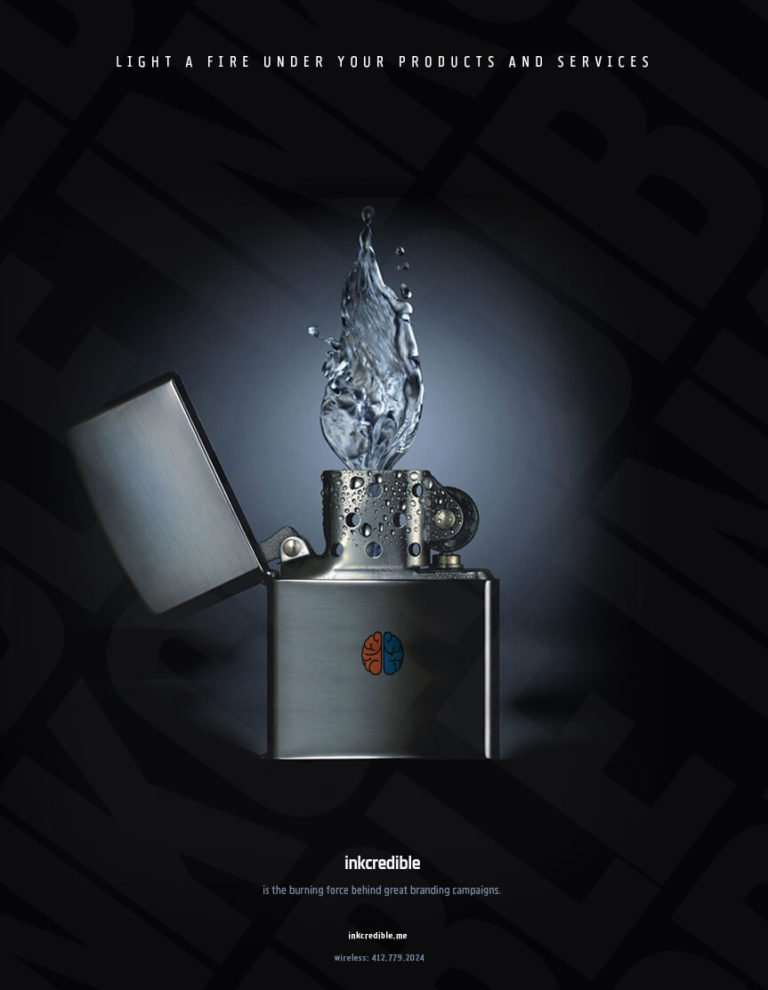 water lighter Inkcredible self promotion creative
