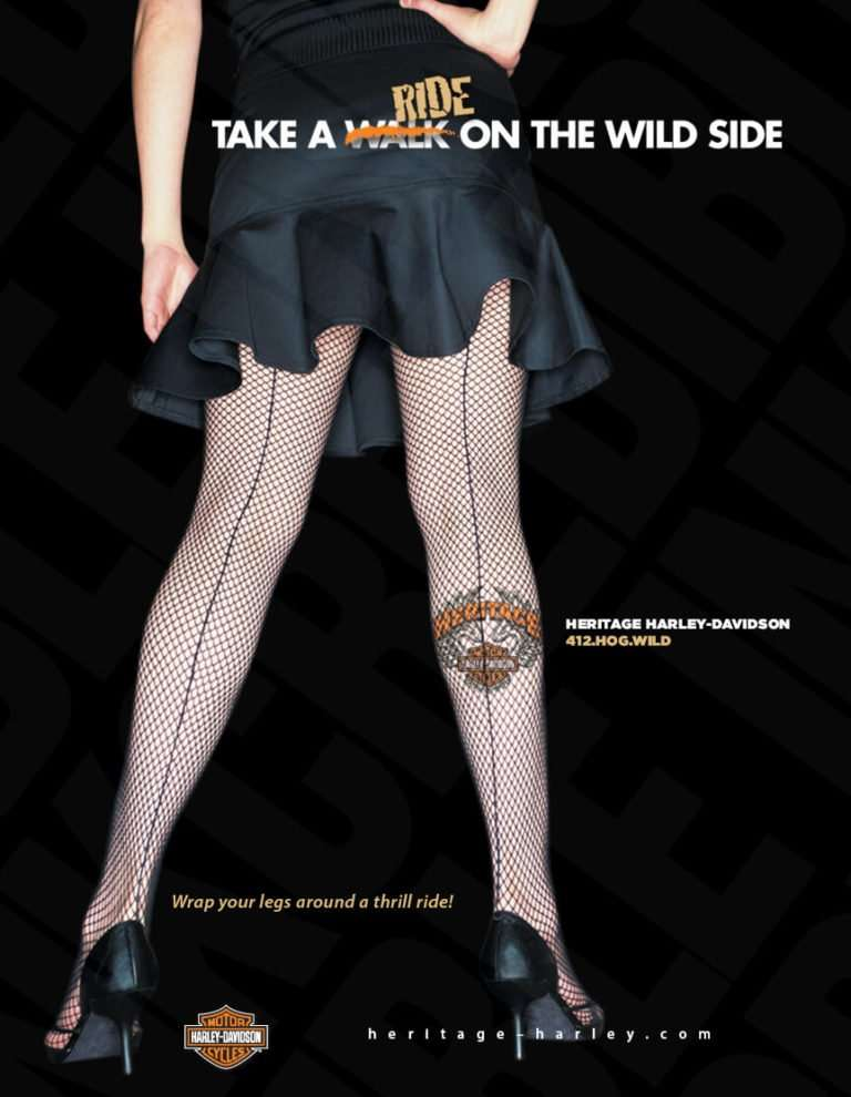 take a walk on the wild side harley davidson inkcredible ad