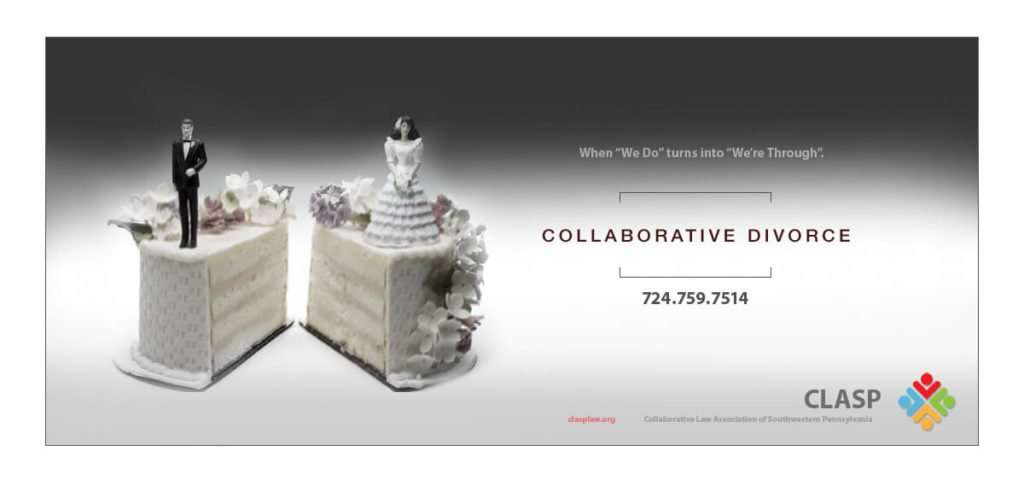 collaborative divorce wedding cake inkcredible ad