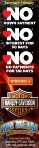 No Down Payment, No Interest, No Payments Harley Davidson Finance Promo Inkcredible Design