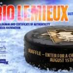 Harley Davidson Mario Lemieux Autographed Puck Raffle Inkcredible Design