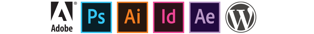 Photoshop Illustrator InDesign After Effects Adobe Microsoft WordPress digital applications