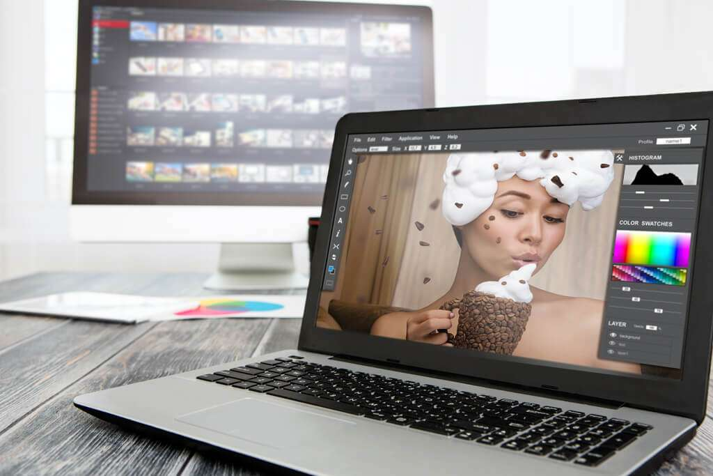 Digital editing of commercial photography
