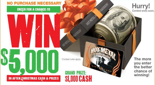 WIN five thousand dollars at Harley Davidson Inkcredible Design