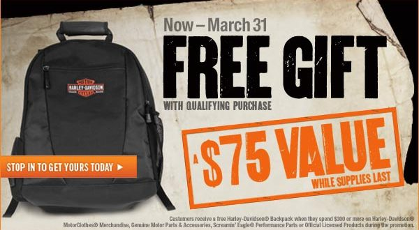 Harley Davidson Free Backpac Inkcredible Design